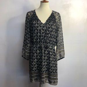 Madewell sheer sleeve boho floral dress size 8